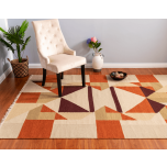 Kili-wool-orange-rug